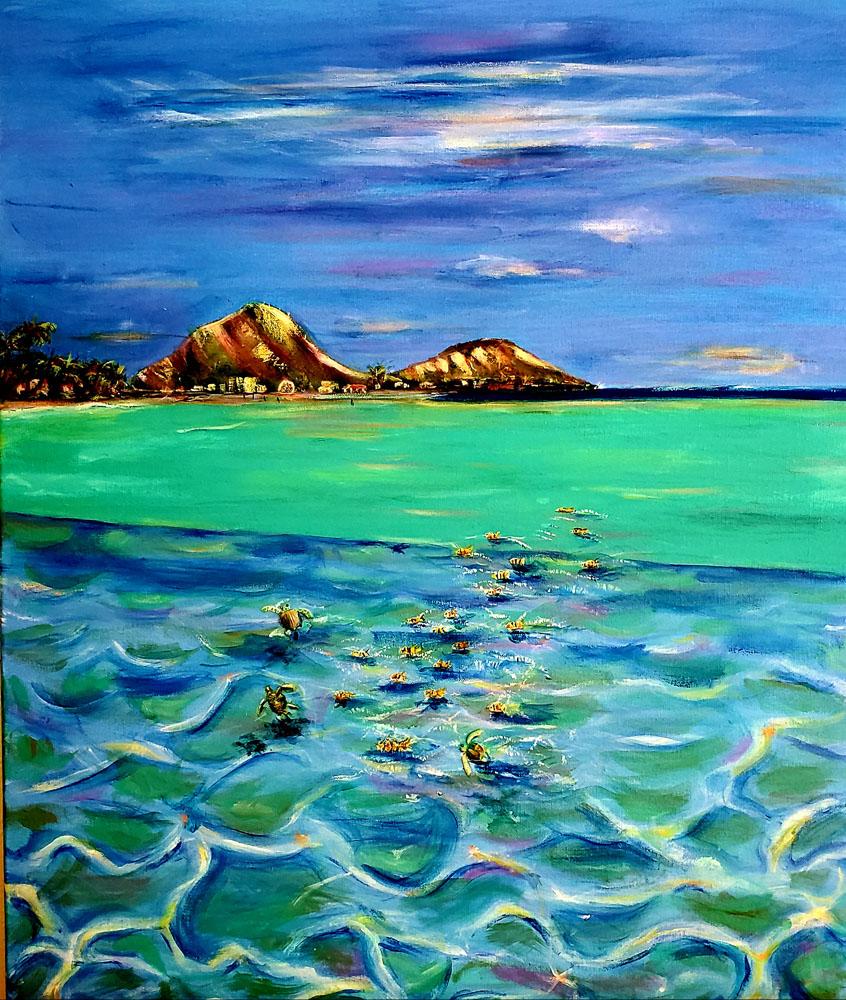 Hawaii Kai Bay by Adriana Franc
