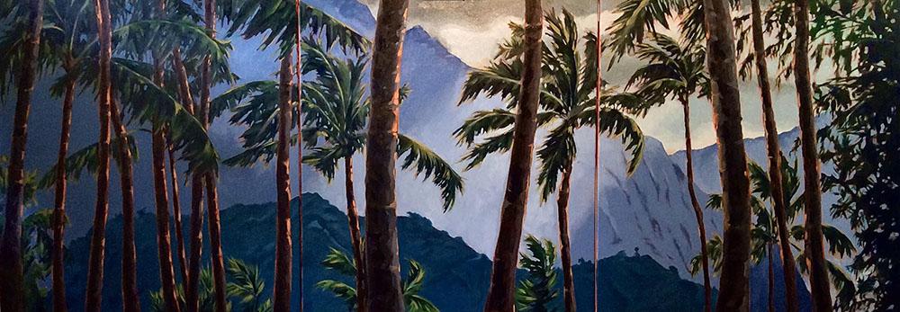 Ko'olaus at Sunset by Cynthia Schubert
