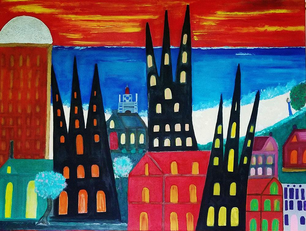 City Sentinels by Frank Oliva