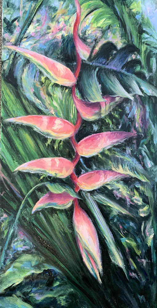 Sexy Pink Heliconia by Kelley Fitzgerald