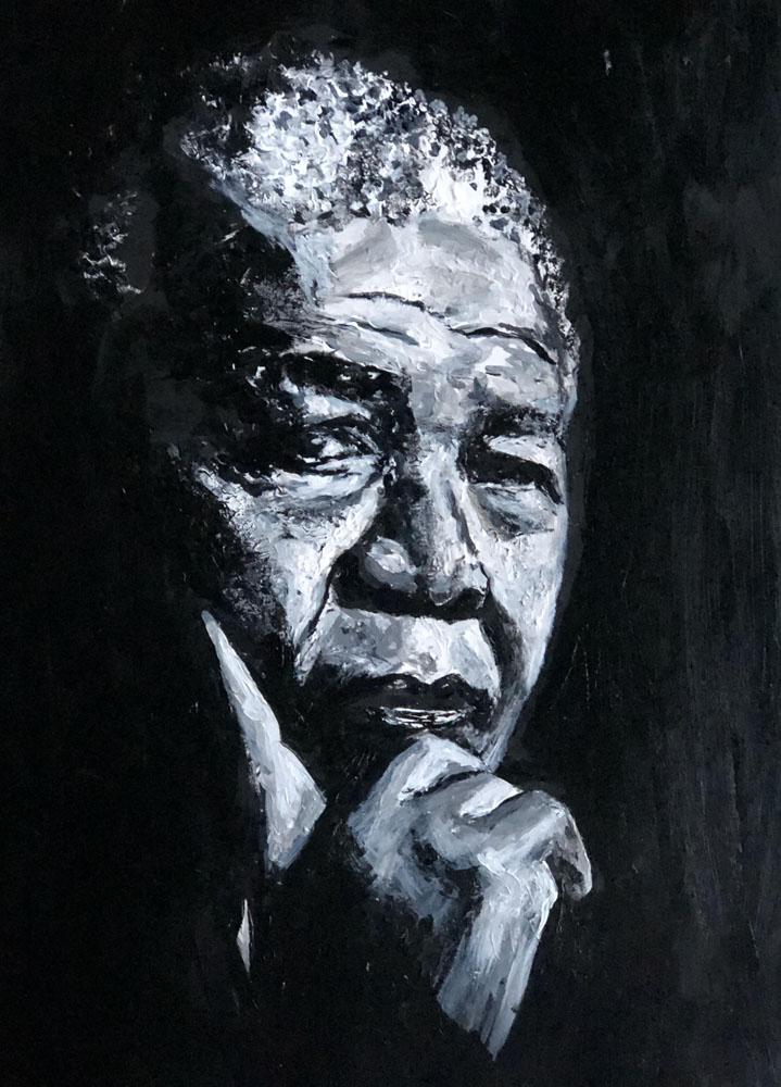 Nelson Mandela by Kimberly Keys