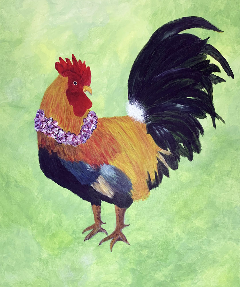 Aloha Rooster by Liz Corbin