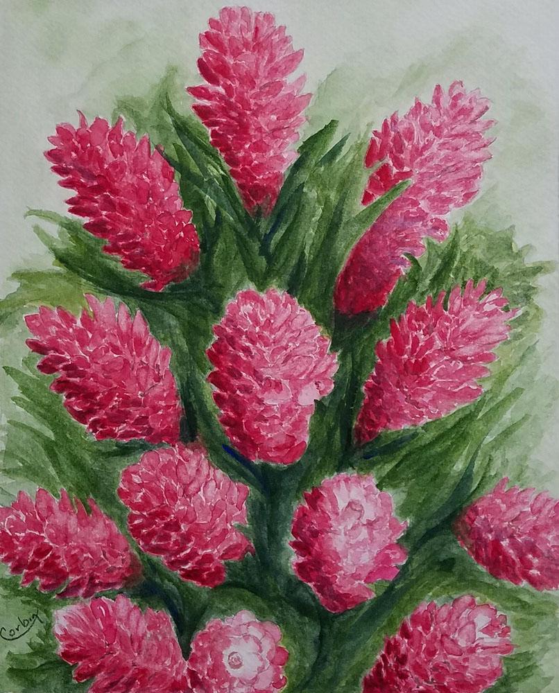 Red Ginger Explosion by Liz Corbin