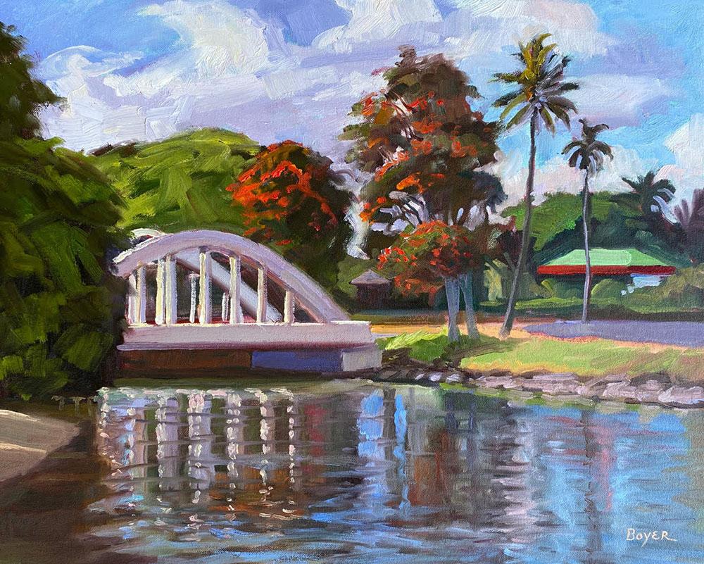 Haleiwa Rainbow Bridge by Lynne Boyer