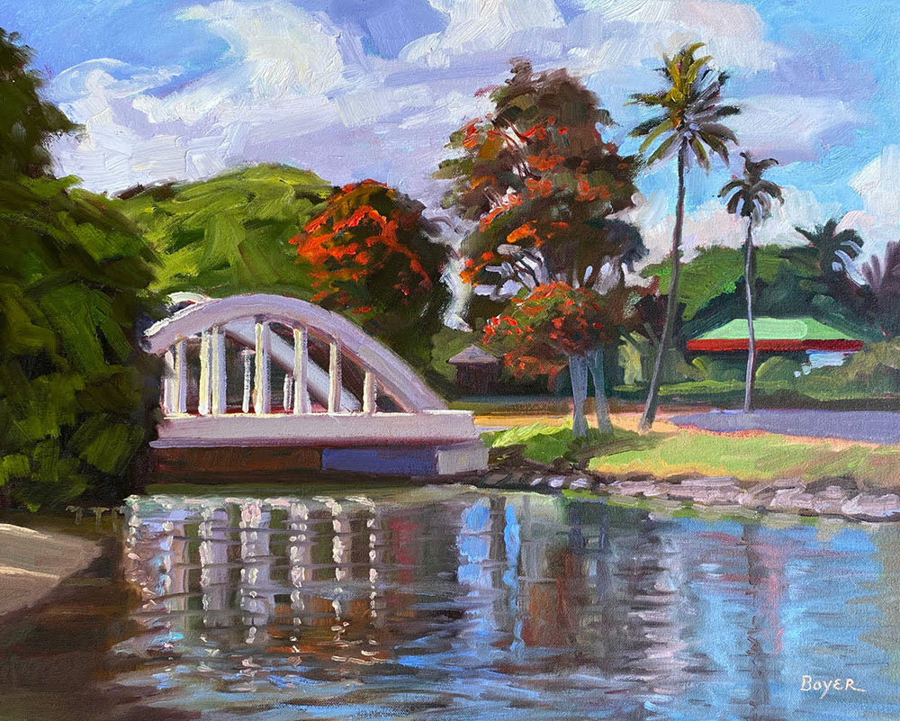 Haleiwa Rainbow Bridge by Lynne Boyer