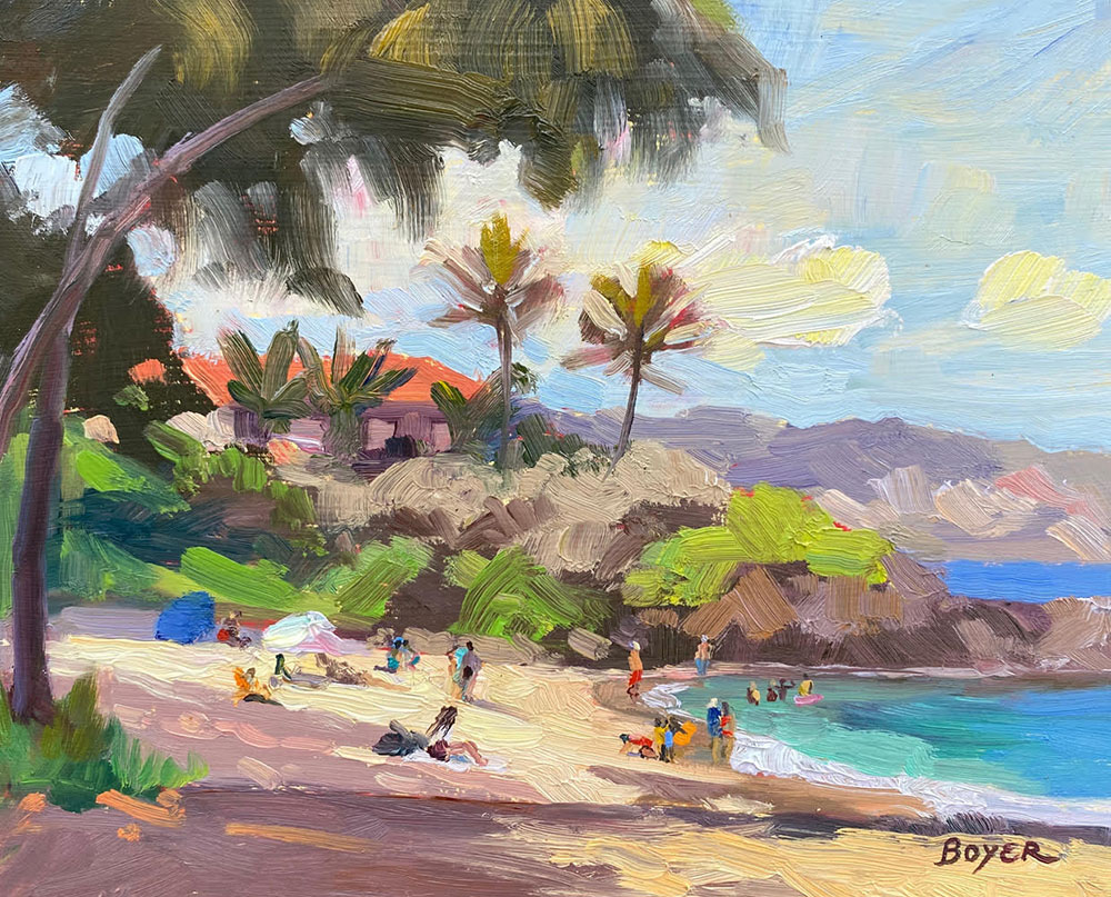 Impressions of a North Shore Beach by Lynne Boyer