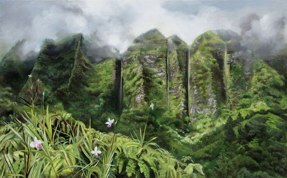 Koolau Mountains After the Storm by Wendy Roberts